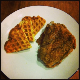 My fried chicken and waffles